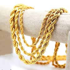 rope chain necklace men images 2018 celebrities style mens 18k yellow gold plated french rope jpg