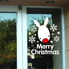 online get cheap moose wall stickers aliexpress com alibaba group merry christmas snowflake lovely snow moose wall sticker home decor shop store chirstmas party window stickers