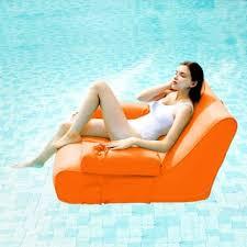 ove decors aqua sunlounger inflatable pool float orange free