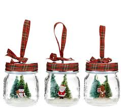 set of 3 jolly jar ornaments with gift bags by valerie ornament