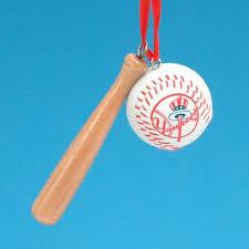 new york yankees bat and ornament