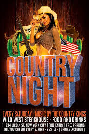 template flyer country free country night flyer template psd download xtremeflyers
