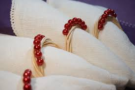 christmas napkin rings table linens 4 wicker napkin rings with red pearls christmas napkin rings