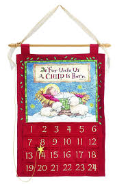 wall hanging fabric nativity advent calendar countdown