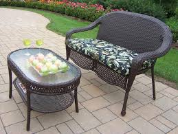 Round Patio Coffee Table Furniture Appealing Wicker Chair Cushions For Cozy Patio