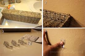 diy bathroom decorating ideas diy bathroom ideas floating wall decor and kleenex towels