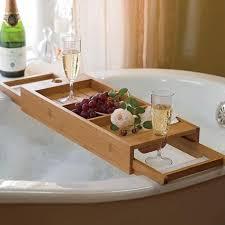 taking a bath with bath reading tray decor around the world