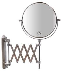 amazon com jerdon jp2027n 8 inch wall mount makeup mirror with 7x