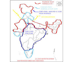 India Weather Map by Metd Weather November 2010