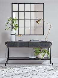 Industrial Console Table Industrial Iron Console Table