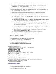 custodian resume sample