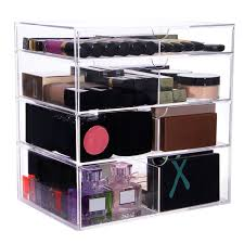 Makeup Organizer Desk by Amazon Com Lifewit Large Beauty Cube 4 Tier Drawers Acrylic