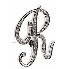 Monogramed Letters Monogram Letters R Silver Corsage Creations