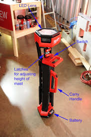 milwaukee m18 trueview led stand light milwaukee m18 light stand tools of the trade jobsite equipment