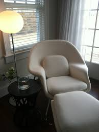 bedroom beige reading chair for bedroom with ottoman made of