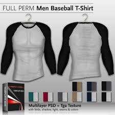 second life marketplace template box baseball t shirt psd file