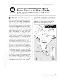 europe discovers the riches of india 7th 9th grade worksheet