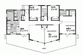 A Frame Floor Plan Home Plan Homepw23724 1495 Square Foot 3 Bedroom 2 Bathroom A