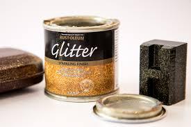 glitter paint gold 125ml by designer paint