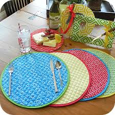 quilted placemats for round tables reversible quilted placemats