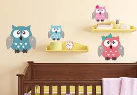 Owl Wall Decor by Owls Family Wall Decals Nursery Vinyl Decor