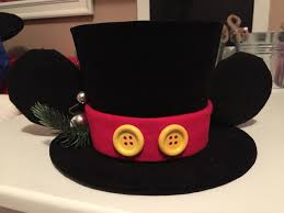 diy mickey mouse top hat topper for mickey christmas tree o