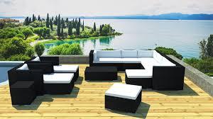 salon de jardin exterieur resine grand salon jardin modulable en résine
