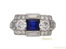 tiffany u0026 co art deco sapphire and diamond ring american circa