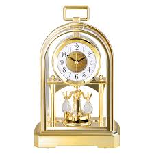pendule de bureau marque silencieux saut mouvement table horloge cristal rotation du