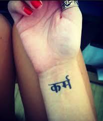 karma in sanskrit tattoo inspirational symbols pinterest