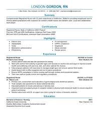 Sample Resume Of A Nurse by Download Registered Nurse Resume Examples Haadyaooverbayresort Com