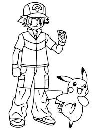 pokemon color pages pikachu pikachu take ash ketchum for great journey on pokemon coloring