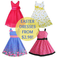 easter dresses as low as 2 98 deals on coordinating sweaters