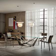 il decor furniture spyder wood dining table by cattelan italia