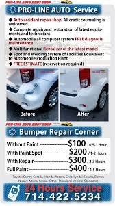 Auto Paint Shop Estimates by Prolinebodyshop Com Orange County Shop Pro Low Price