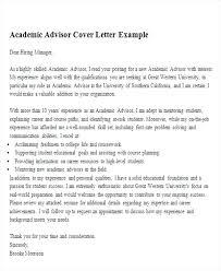 cover letter for a resume exle academic advisor cover letter fungram co