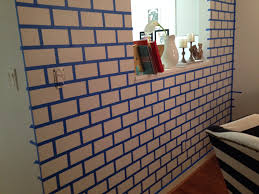diy painted brick wall the glamorous project