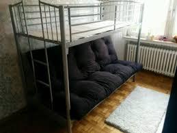 hochbett mit sofa drunter hochbett mit sofa bettsofa modern metall pltze doc by giulio