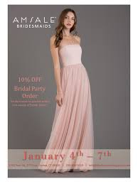 amsale bridesmaid amsale bridesmaids trunk show january 4th 7th a something
