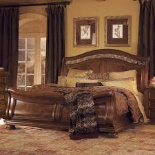 split panel queen size wooden sleigh bed consideration in