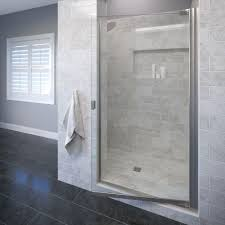 New Shower Doors Basco Classic 31 3 4 In X 66 In Semi Frameless Pivot Shower Door