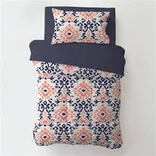 Navy And Coral Baby Bedding Navy And Coral Ikat 4 Piece Toddler Bedding Set Carousel Designs