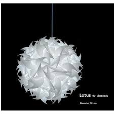 suspension chambre lustre suspension lotus ø 50cm