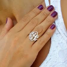 monogram initial ring monogram initial ring custom made ring with any initials you