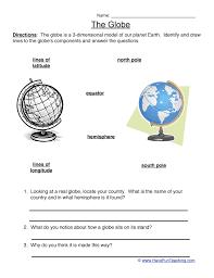 globe and maps worksheet map studies worksheet teaching