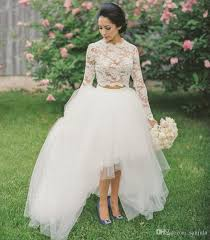 high to low wedding dress discount high low wedding dresses lace bridal gowns high neck
