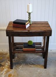 How To Build Wood End Tables by End Table Made From Pallets Wood Pallet Furniture Diy