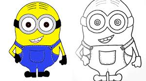 cartoon minions drawings draw bob minion teddy