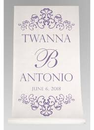 purple aisle runner personalized watercolor aisle runner david s bridal