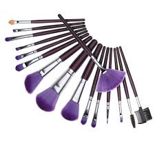 16pcs makeup brush kit blush brush purple bag case xmy mk076